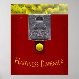 Poster feliz de la máquina de Gumball de la cara Póster