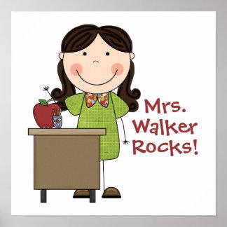 Poster femenino de encargo del profesor