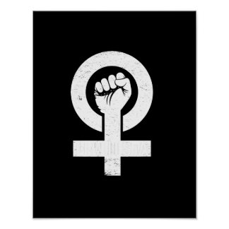Póster FEMINISTA --  blanco -
