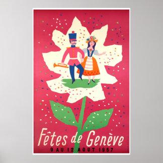 Póster Fêtes de Genève 1957