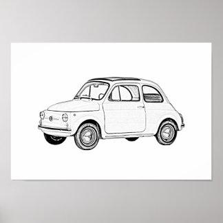 Póster Fiat 500 Topolino