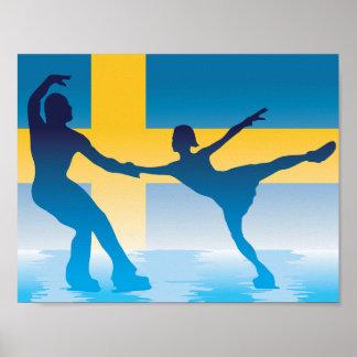 Póster Figura sueca poster de los patinadores