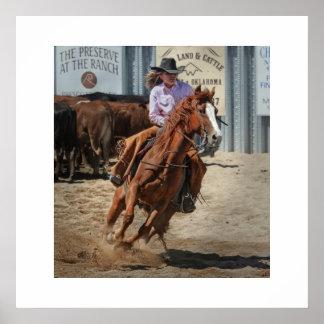 Póster Fijar cowgirl