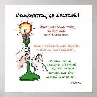 """Póster ¡Fijar """"la innovación, eso se activa! """""""