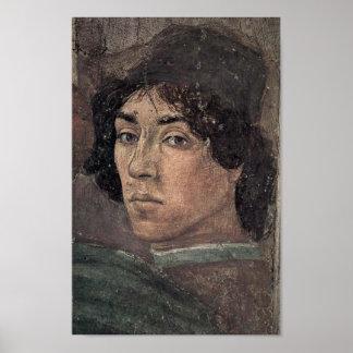 Póster Filippino Lippi - autorretrato del artista