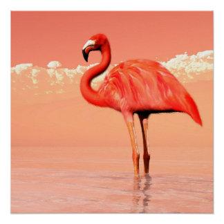 Póster Flamenco rosado en el agua - 3D rinden
