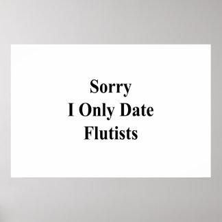 Póster Flautistas tristes de la fecha de I solamente