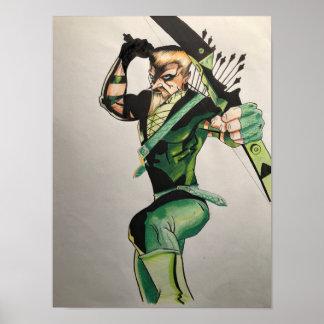 Póster Flecha Poster-Verde