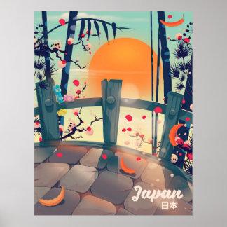 Póster Flor de Japón del poster de las vacaciones del