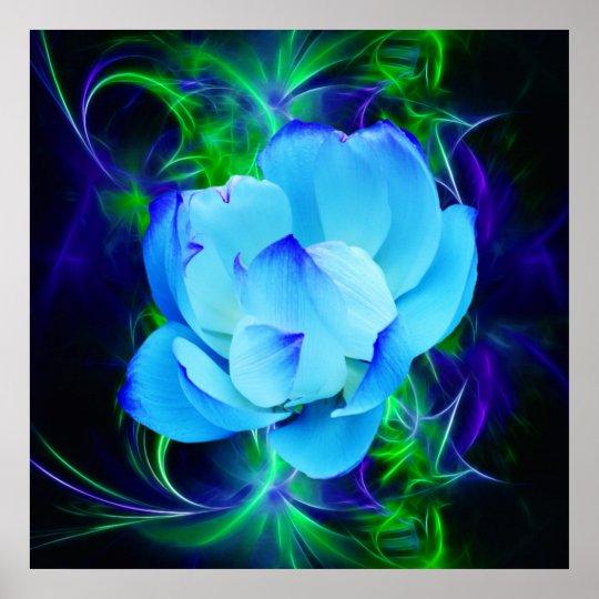 Póster Flor de loto azul y su significado