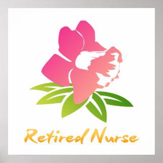 Póster Flor jubilada de la enfermera