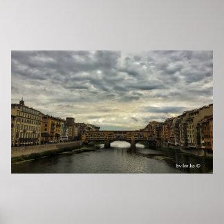 Póster Florencia, Italia