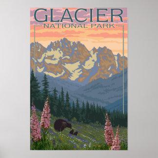 Póster Flores de la primavera - Parque Nacional Glacier,