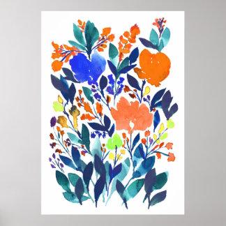Póster flores pintadas a mano 3