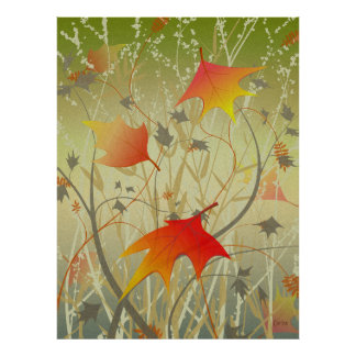 Póster Follaje del otoño
