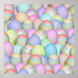 Póster Fondo coloreado de los huevos de Pascua
