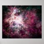 Póster Formación de la nebulosa en espacio exterior