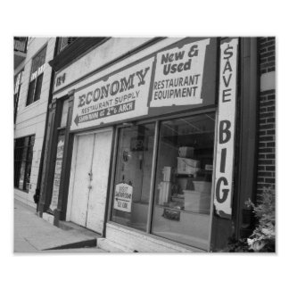 Póster Foto blanco y negro de Philadelphia del escaparate