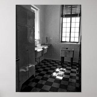Póster Fotografía blanco y negro retra de la cocina