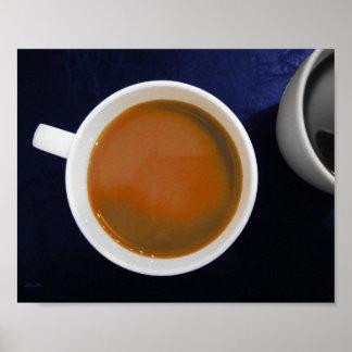 Póster Fotografía del café - café con crema y negro