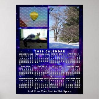 Póster Fotos mensuales de la nebulosa 3 del espacio del
