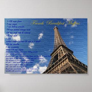 Poster francés de la receta del arte de los