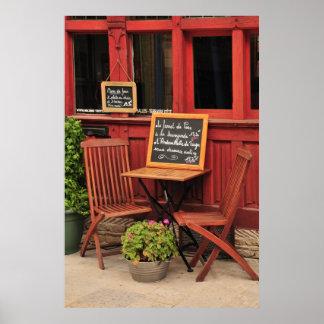 Poster francés del café