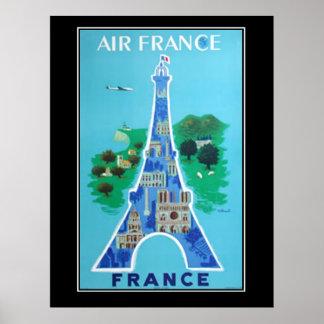 Póster Francés del poster del vintage del viaje de Franci