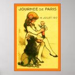 Poster francés WW1 del vintage del ~ de Journée de