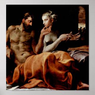 Póster Francesco Primaticcio - Odiseo y Penélope