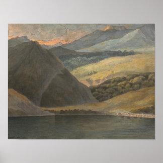 Póster Francisco Towne - opinión sobre el lago Maggiore