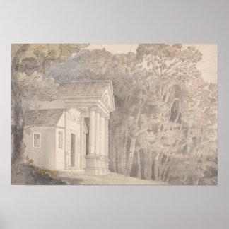Póster Francisco Towne - parque de Werrington, Devonshire