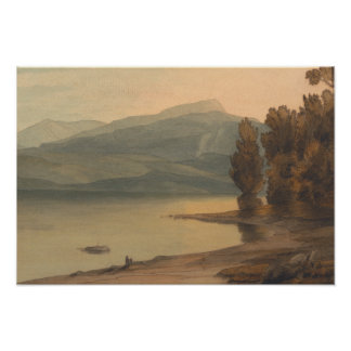 Póster Francisco Towne - Windermere en la puesta del sol