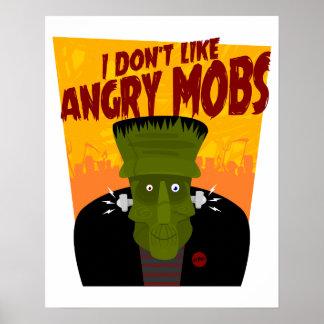 Póster Frankenstein dice: No tengo gusto de las