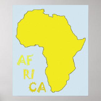 Poster fresco de África Póster