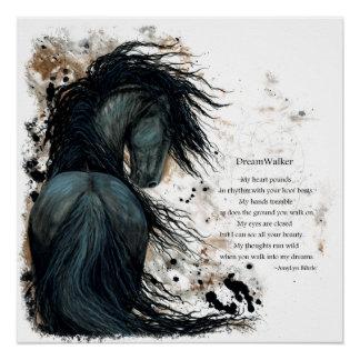 Poster frisio del poema del caballo de DreamWalker