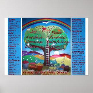Póster Frutas del poster del alcohol con versos