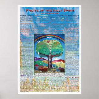 Póster Frutas del poster del Espíritu Santo con versos