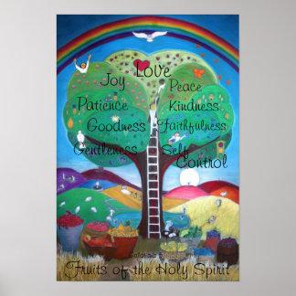 Póster Frutas del poster del Espíritu Santo - nueva