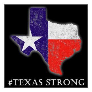 Poster fuerte de la pared de los #Texas