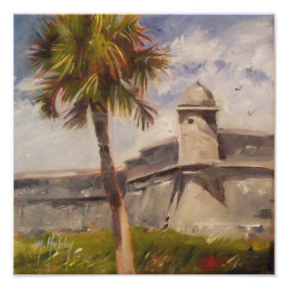 Póster Fuerte de St Augustine - Castillo de San Marcos