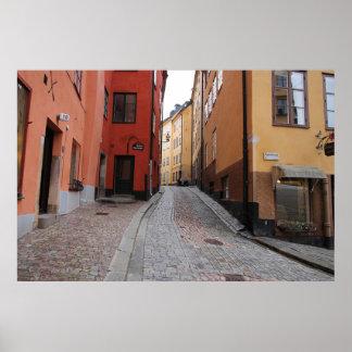 Póster Gamla Stan, Estocolmo, Suecia; Guijarro de los