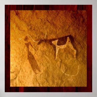 Póster Ganado en vida prehistórica
