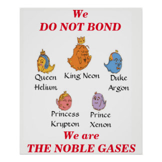 Póster Gases nobles