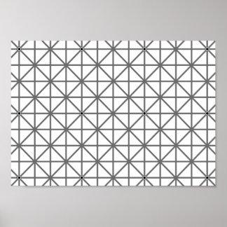 Póster geomet de la textura del modelo del fondo de la