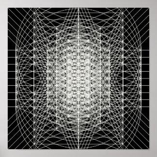 Póster Geometría sagrada de Interdimensional el Wormhole