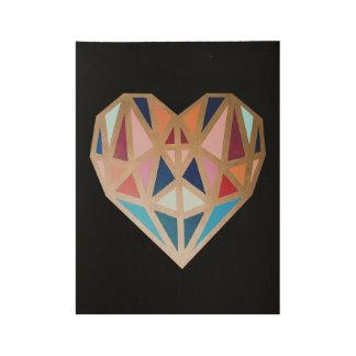 Poster geométrico del corazón, arte del corazón,