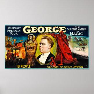 Póster George --Poster americano triunfante del viaje