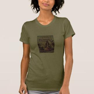Poster gitano del vintage del chica camiseta