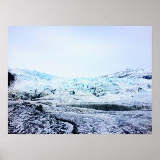 Póster Glaciar en Islandia